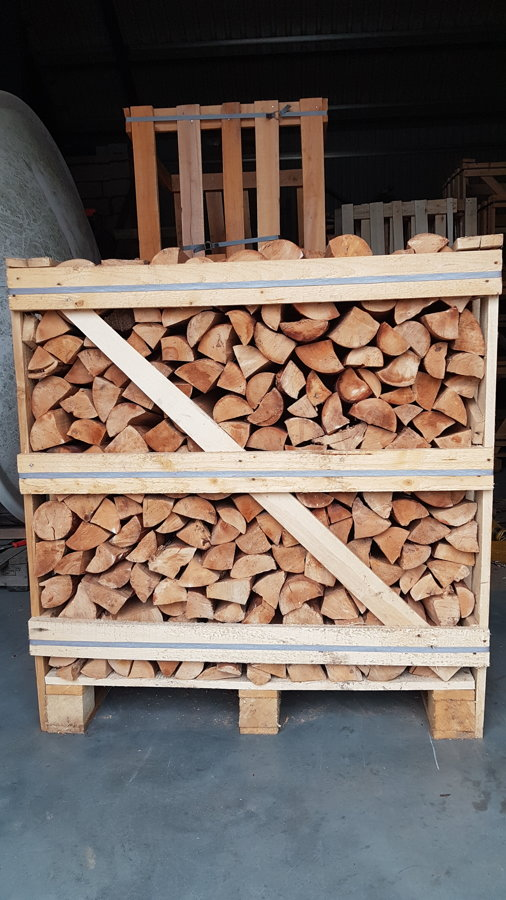 Birch without bark 1 RM crates