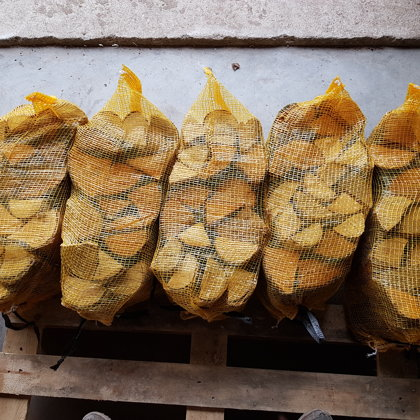 Firewood in bags